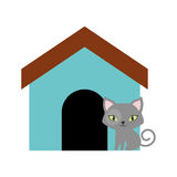 Cat breed animal mammal colored house. Illusration eps 10 Royalty Free Illustration