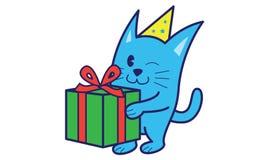 Cat Bring Gift Photos stock