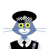 Cat English Policeman Stock Photo