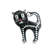Cat brooch Stock Photo