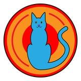 Cat Button Icon Stock Photo
