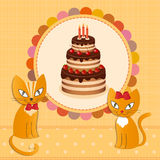Cat cake - Illustration, vektor Royalty Free Stock Image