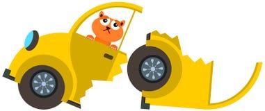 Cat car crash Royalty Free Stock Image