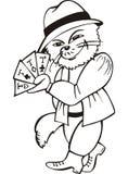 Cat card-sharper Stock Photo