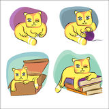 Cat caricature Royalty Free Stock Image