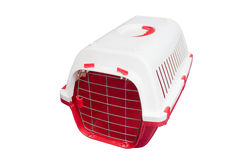 Cat carrier for travelling. Cat carrier for travelling isolated on white background Stock Image