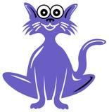Cat cartoon. Isolated line art  humorous cat cartoon image Stock Photos