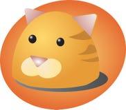 Cat cartoon. Cute cartoon illustration of a cat's head Royalty Free Stock Images