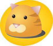 Cat cartoon. Cute cartoon illustration of a cat's head Stock Image