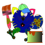 Cat cartoon. Character comic  illustration Royalty Free Stock Image
