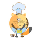 Cat cartoon. Cook character  illustration Royalty Free Stock Photos
