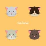 Cat cartoon faces Stock Photo