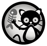 Cat Cartoon Illustration Stockbild
