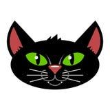 Cat Cartoon Isolated nera Fotografia Stock