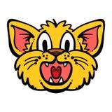 Cat Cartoon Isolated. A vector cartoon of a  cat face Royalty Free Stock Photos