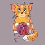 Cat cartoon Stock Image