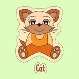 Cat, cartoon kitten, symbol of the Chinese horoscope 2023 year. Cute pet Royalty Free Stock Photography