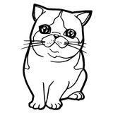 Cat cartoon line art vector Royalty Free Stock Photos