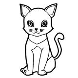Cat cartoon line art vector Royalty Free Stock Photo