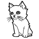 Cat cartoon line art vector Stock Images