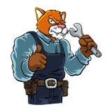 Cat cartoon Mascot Stock Image