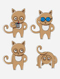Cat cartoon set Stock Images