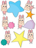 Cat Cartoon Star Sticker Stockbilder