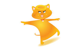 Cat. The cat cartoon on white background Stock Photography