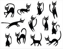 Cat cartoons set Stock Images
