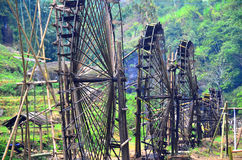 Cat Cat Village near Sapa Town Vietnam. Water wheel power plant stock photography