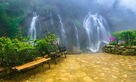 Cat Cat-Wasserfall, in Cat Cat-Dorf, Sapa, Vietnam stockfoto