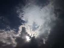 Blue sky with clouds. It& x27;s Rainy day. royalty free stock images