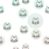 Cat cats patter water color vector illustration