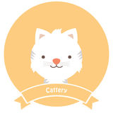 Cat Cattery Icon. Cute cats cattery service icon that can be used in many ways especially on banners and advertisements Stock Images