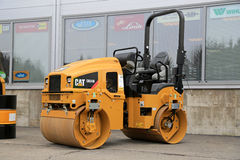 Cat CB24B Utility Compactor on a Yard Royalty Free Stock Images
