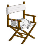 Cat on the chair vector illustration