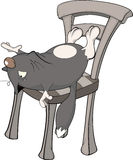 Cat on a chair. Cartoon Royalty Free Stock Photos