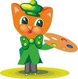 Cat Character Artist 4 illustration stock