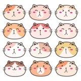 Cat Characters Set mignonne tirée par la main illustration libre de droits