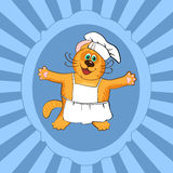 Cat chef cook Royalty Free Stock Photography