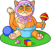 Cat child Royalty Free Stock Photos