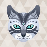 Cat. Chinese horoscope sign. Vector illustration in ethnic style vector illustration