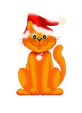 Cat Christmas. Color illustration of a smiling cat Christmas Stock Photos