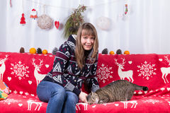 Cat Christmas Royalty Free Stock Photography