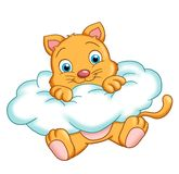 Cat on a cloud Royalty Free Stock Photo
