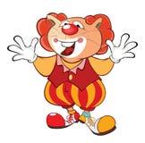 Cat Clown Cartoon Character sveglia illustrazione di stock