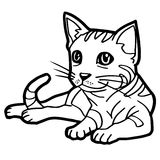 Cat Coloring Page isolated on white vector Stock Photography