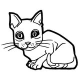 Cat Coloring Page for kid Royalty Free Stock Photography