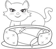Cat Coloring Page Royalty Free Stock Photos