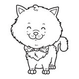 Cat coloring page Royalty Free Stock Image